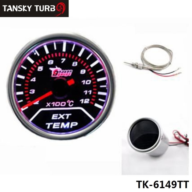 "Tansky -Car Motor Auto Jdm Racing Sport 2"" 52mm EGT Exhaust Gas Temperature Led Smoke Tint Gauge TK-6149TT"