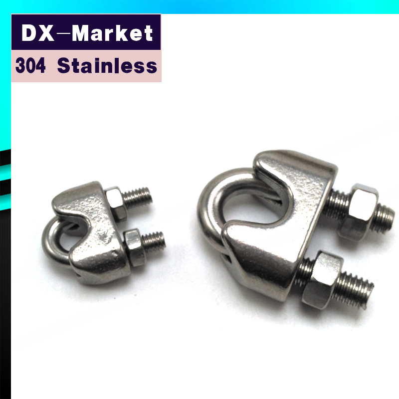 4mm , 20pcs/lot , Stainless Steel 304 DIN741 U type Wire Rope Clip ...