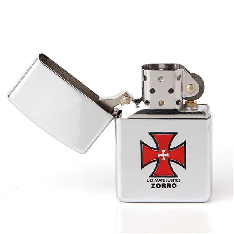Cigarette Accessories 2018 New Metal Copper material Red Cross LOGO kerosene oil lighter Z8232