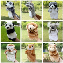 Soft Toys Fingers Doll Squirrel Leopard Cat Voles Fox Hand Puppets Fantoche Interactive Early Educational Plush Puppet Toys