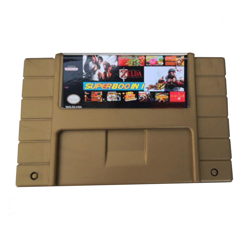 xunbeifang for S-N-E-S Games Card Super 800 in 1 US Version Game Cartridge Card for S-N-E-S Console