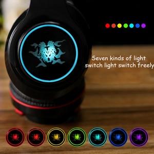 Image 3 - Earphone bluetooth 4.1 wireless HIFI  Seven color LED over ear headset waterproof with microphone headphones auricolari headset