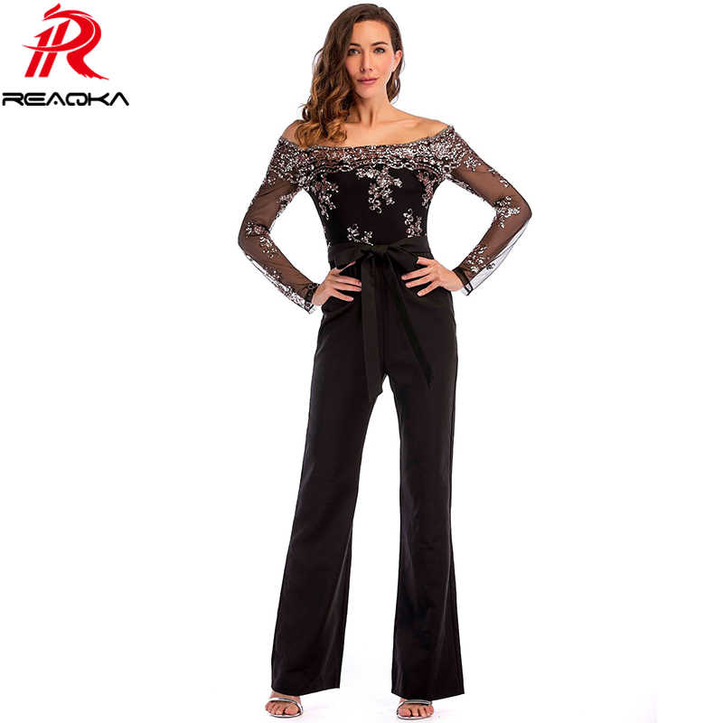 d4aedf9a92 Sexy Sequins Patchwork rompers womens jumpsuit baby women 2018 Summer  Elegant long sleeves Backless Party Playsuits