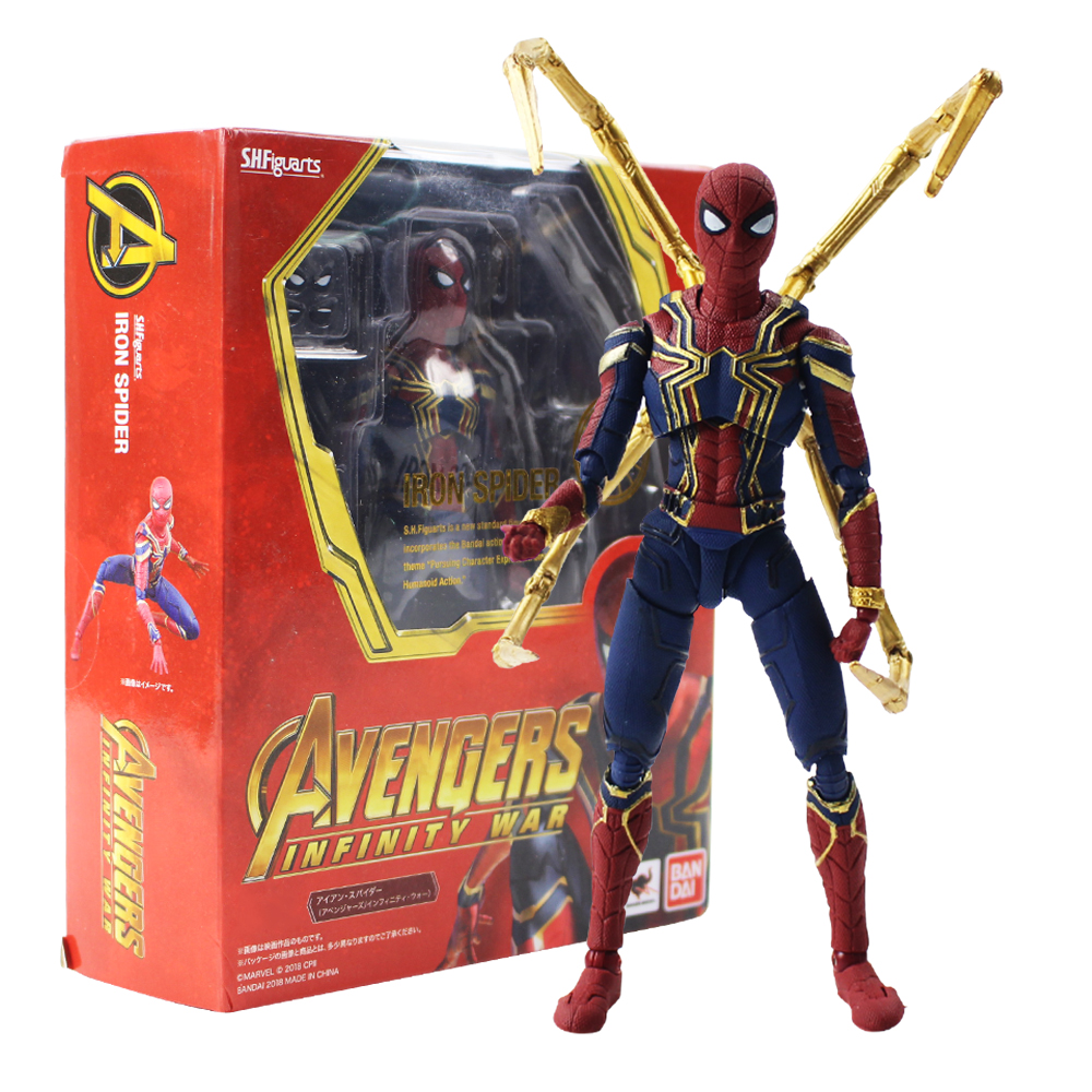 Toys & Hobbies Bright Sci-fi Revoltech Series No.039 Spider-man Spiderman Pvc Action Figure Collectible Model Toy 14cm