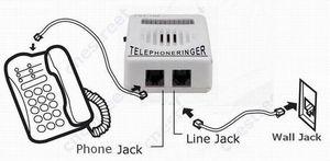 Image 4 - Il trasporto Libero di Un RJ11 linea telefonica + Nuovo Extra Forte Del Telefono Telefono Ringer fino a 95dB w/ Strobe luce Lampeggiatore Campanaro