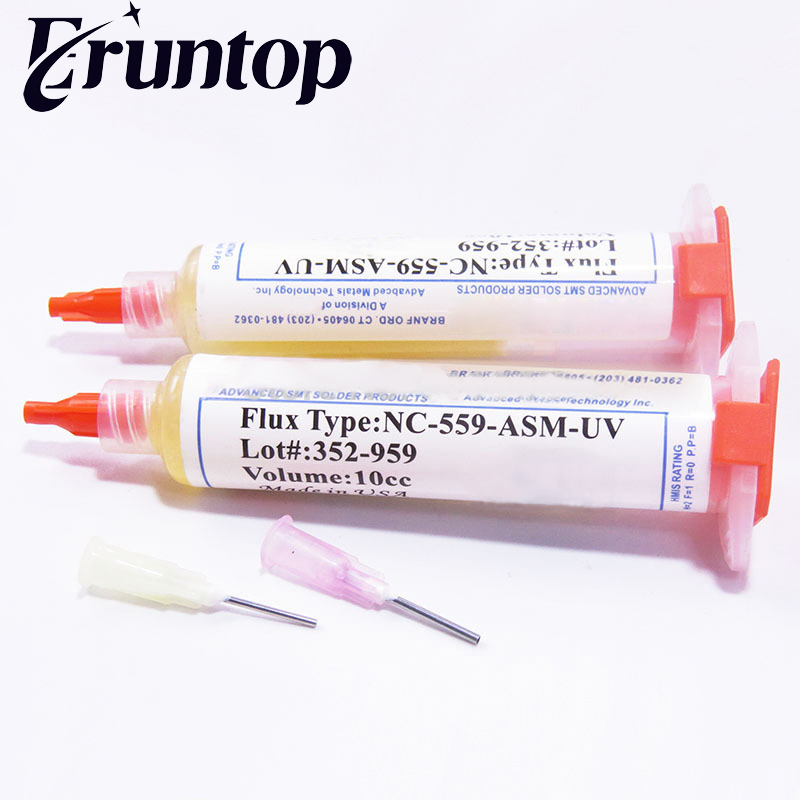 купить 1PCS 10cc 559 NC-559-ASM-UV Flux Paste Lead-free Solder Paste Solder Flux + Needles онлайн