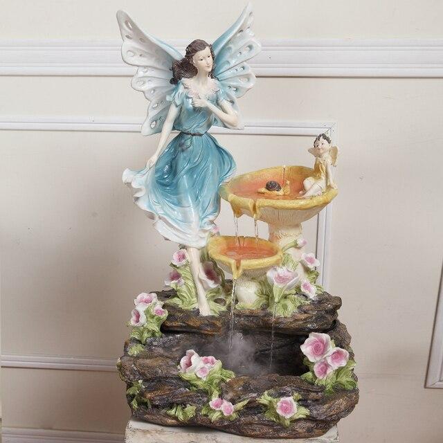 Fata fiore europeo Feng Shui decorazione fortunato fontana di acqua ...