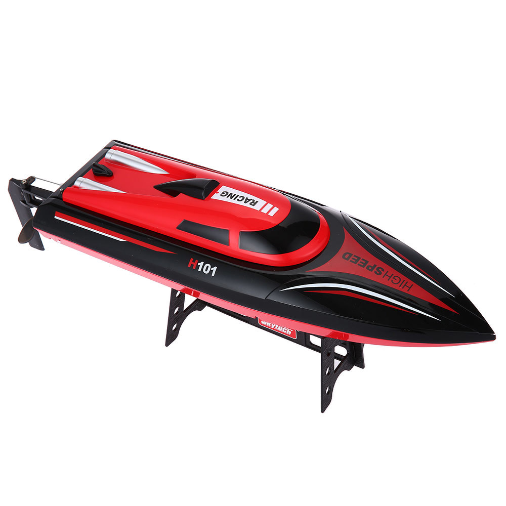 H101 2.4GHz 2CH 30KM/H High Speed RC Boat Kids Toy 180'Flip Reversion Self Righting RC Racing Boat Transmitter 150M LCD Screen