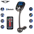 Universal Inalámbrico Reproductor de MP3 de Audio Del Coche Manos Libres Bluetooth Transmisor FM Con Control Remoto Pantalla LCD USB Cargador