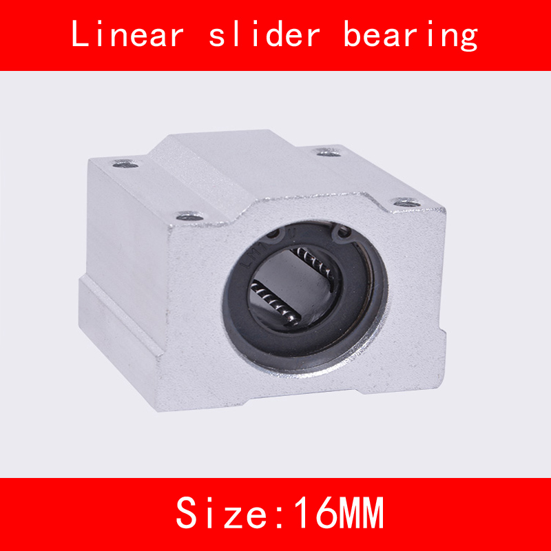 2 piece/lot SCS12UU SCS16UU 12mm 16mm Linear Motion Ball Bearing slider Bushing Linear Shaft for CNC 12mm 16mm Linear Shaft