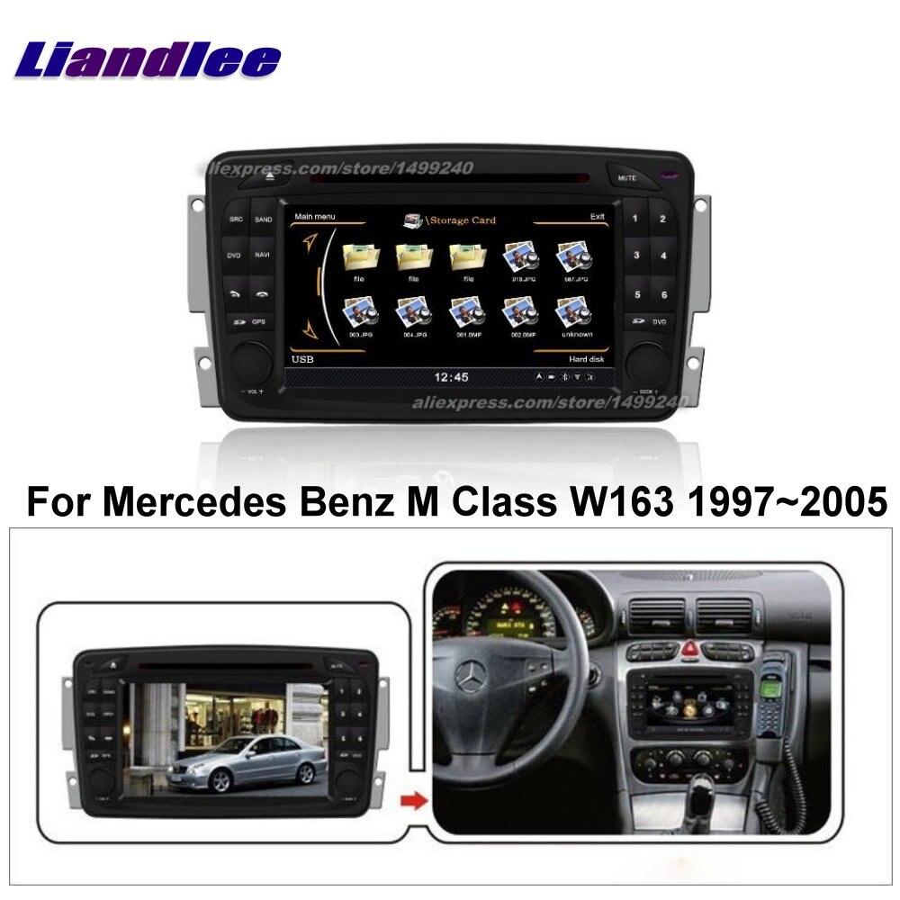 Liandlee 2 din voiture Android pour Mercedes Benz M classe W163 1997 ~ 2005 Radio GPS cartes carte Navigation lecteur HD écran BT WIFI médias