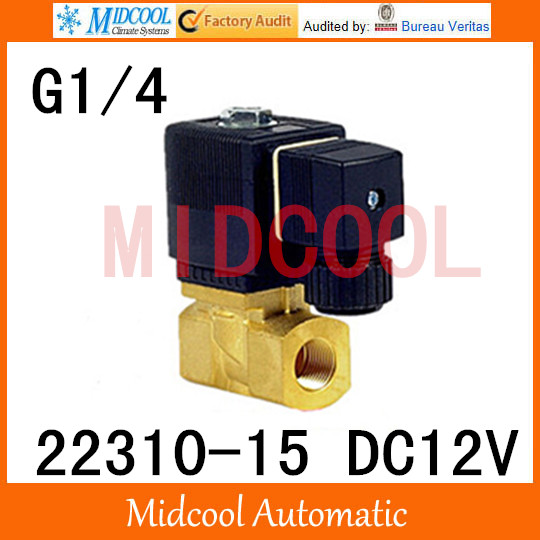 High quality  Pneumatic Baode type solenoid valve 22310-15 port 1/4 BSP DC12V two position, two way normally closed high quality high temperature steam solenoid valve dc24v two position two way us 15