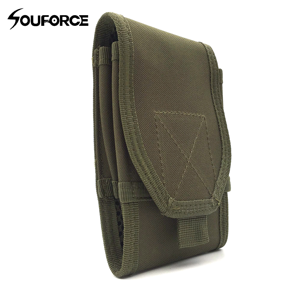 Outdoor Tactical Double-decker Mobile Bag 6 inch Large Screen Mobile Bag Small Pockets