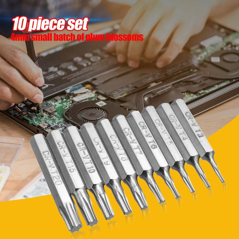 10pcs CR-V Torx Bits Set Screwdriver Drill Bit Hex Torx Repair Mobile Phone Bit T3 T4 T5 T6 T7 T8 T9 T10 T15 T20