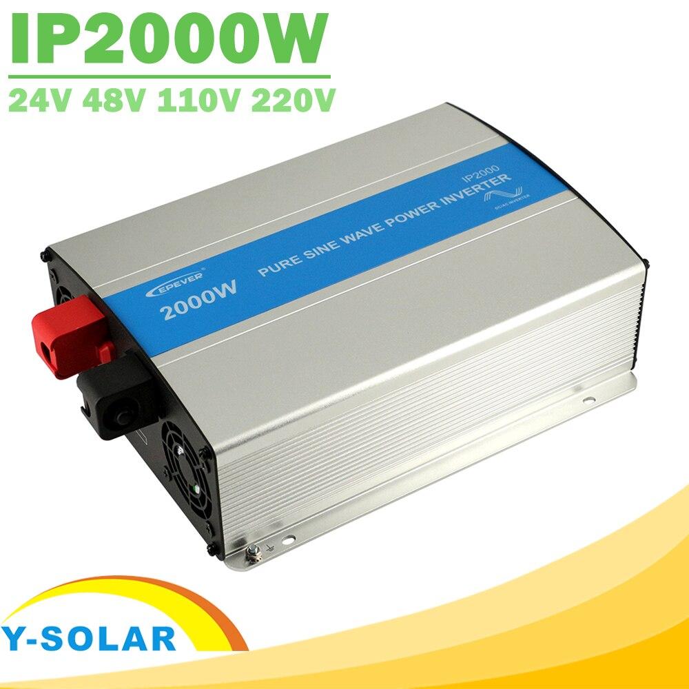 EPever IPower 2000 Вт Чистая синусоида Инвертор 24 В 48 В DC Вход 110 В 120 В 220 В 230VAC Выход Панели солнечные решетки галстук инвертора Новый
