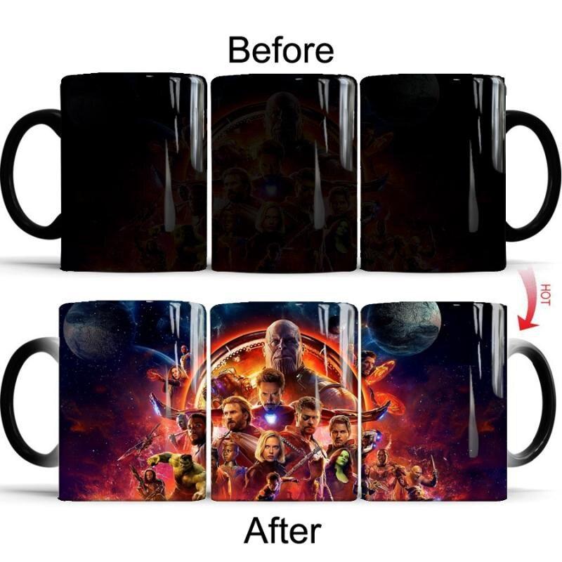 Neue Avengers Tassen Unendlichkeit Krieg Superheld Figur Farbwechsel Becher 350 ml Keramik Wärme Offenbaren Marvel Kaffee Milch Tee Tasse