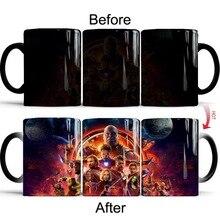 Anime Color Changing Coffee Mug Marvel Avengers Mugs Christmas Gifts
