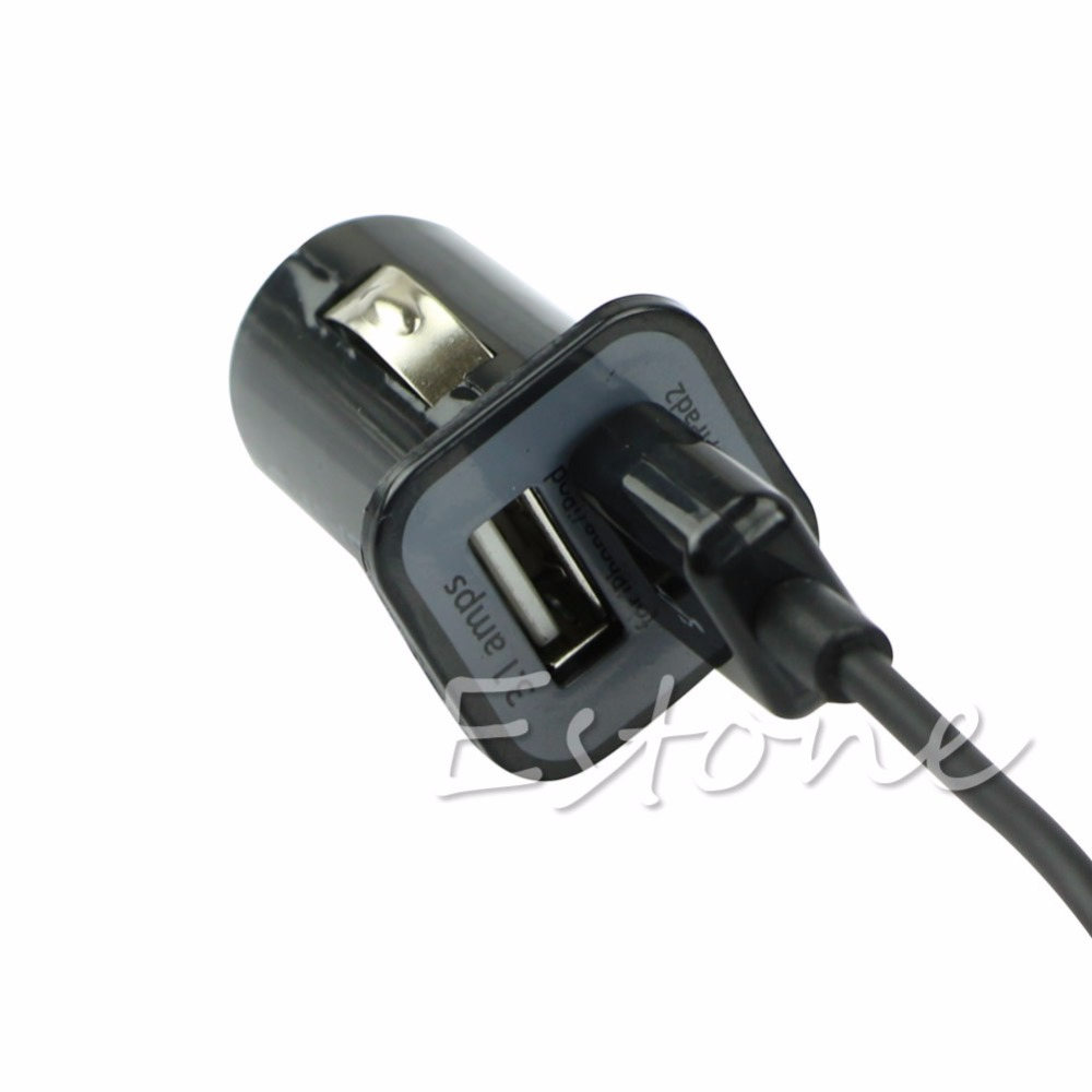 Dual USB Car Charger Adapter + Micro USB Date Cable For Android Smart Phones