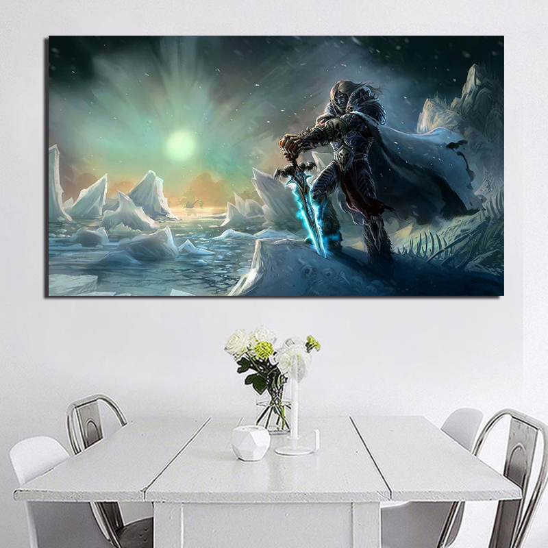 World Of Warcrafts Background Wall Art Canvas Painting Posters Prints Modern Painting Wall Picture For Living Room Home Decor HD