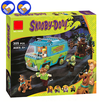 A Toy A Dream 10430 Scooby Doo Mystery Machine Bus Building Block Mini Toys with 75902 Christmas gift P029 скуби ду лего