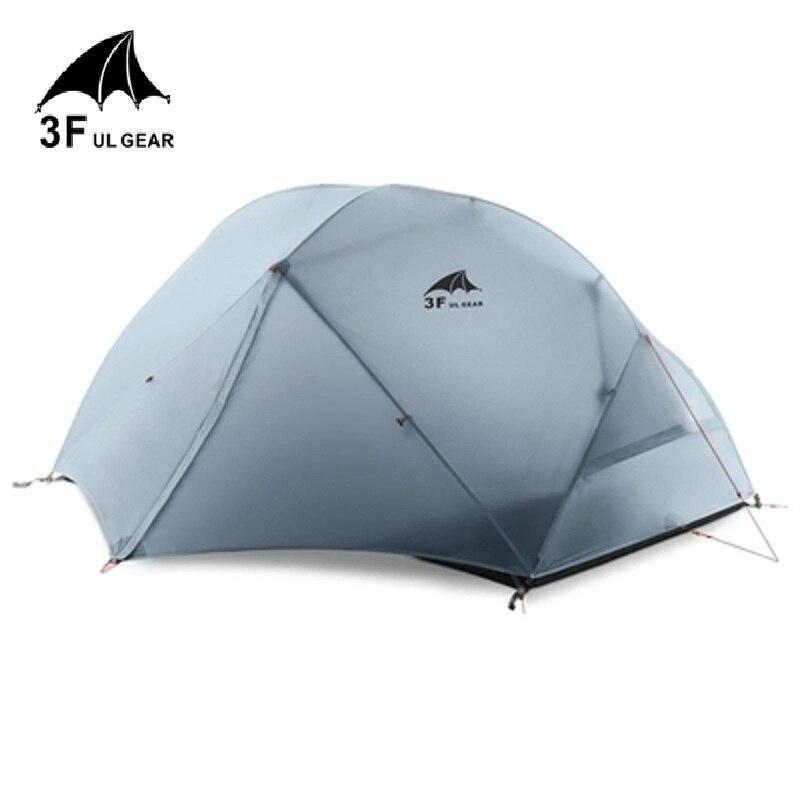3F UL шестерни 2 Человек Палатка Сверхлегкий Камп палатки tenda tente barraca де acampamento