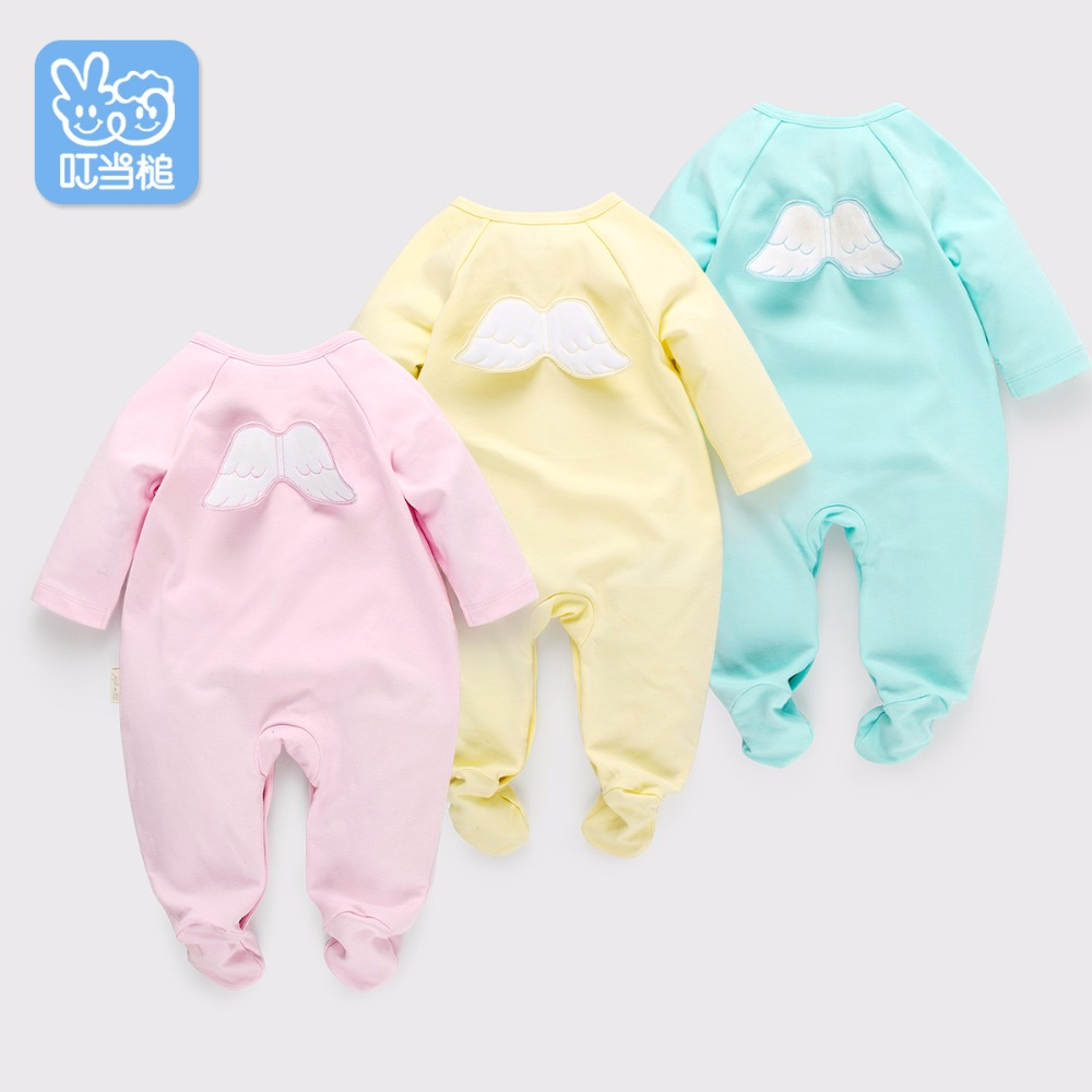 Newborn clothes baby cotton baby spring autumn wear long sleeves cartoon clothes Infant Jumpsuits with shoes cartoon fox baby rompers pajamas newborn baby clothes infant cotton long sleeve jumpsuits boy girl warm autumn clothes wear