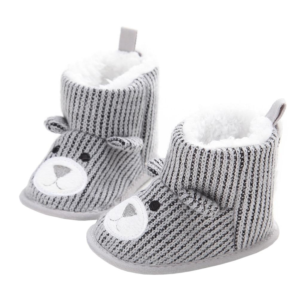 Baby Boots Boys Girls Winter Warm Infants Shoes Cute Cartoon Animals Fleece Fur Short Booties for Toddler Newborns Walkers