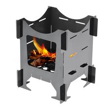 купить Outdoor Folding Wood Stove Camping Stove Portable Lightweight Hiking Picnic Stainless Steel for Outdoor Cooking BBQ Backpacking дешево