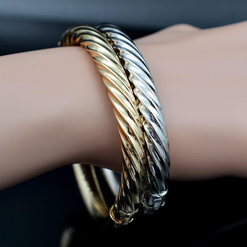 Sunny Jewelry Cute Romantic Jewelry Dubai Copper Open Cuff Bangles Bracelets Twisted String Fairy For Women Girls Gifts Jewelry