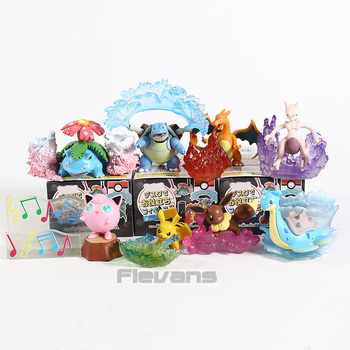 Аниме мультфильм Монстры Evee Charizard Venusaur Blastoise Mewtwo Jigglypuff Lapras настольные Фигурки игрушки 8 шт./компл.