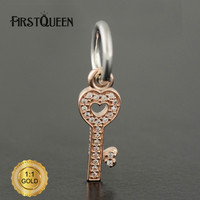 FirstQueen Silver 14k Rose Gold Symbol Of Trust Charm Fit Bracelets DIY Pendants Jewelry Making Fine