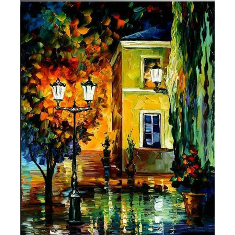 modern Hand Painted font b Knife b font Oil Painting Paintings Modern landscape Picture For Room
