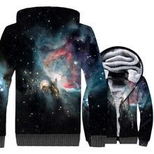 winter thick jackets 2019 funny 3D print hoodies sweatshirts cosmic vortex starry sky tracksuits zip bodybuilding warm coats men поло print bar vortex