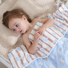 Multifunctional Baby Blanket Thicken 6 Layers Cotton Infant Towel Newborns Wrap Baby Bedding Blanket Kids Cover