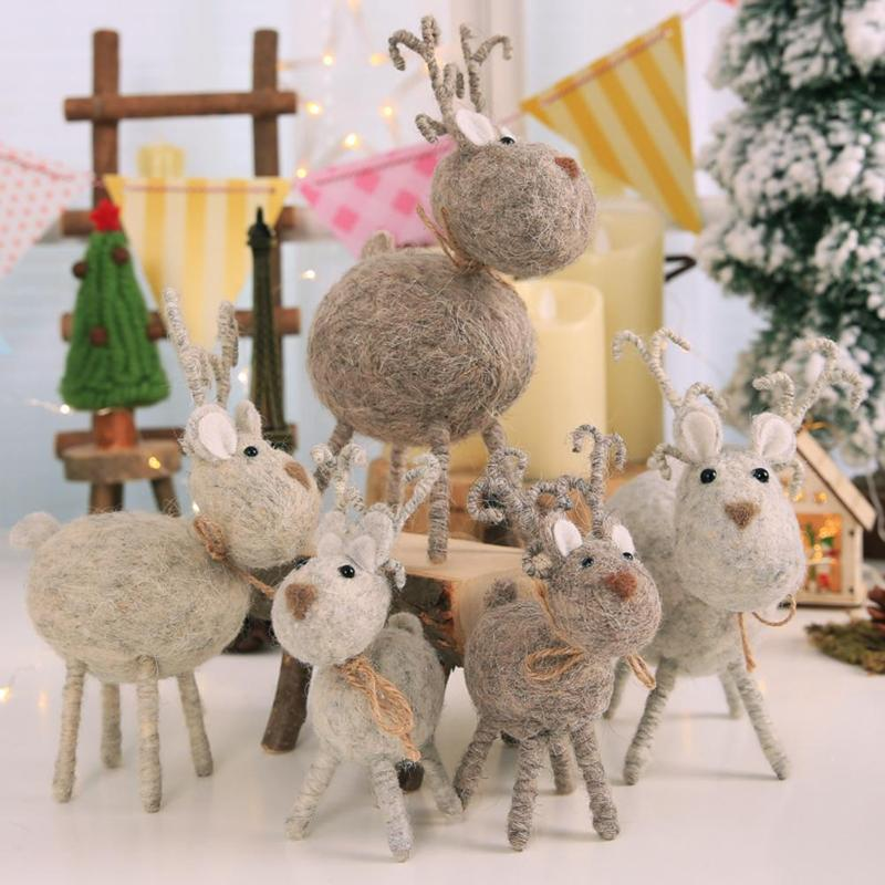 Diy Christmas Ornaments As Gifts.Us 3 21 28 Off Diy Christmas Festival Decoration Deer Doll Mall Ornament Kids Gifts Toy 6styles 2018 Christmas Ornaments 2019 New Year S Decor In