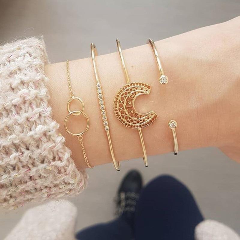 4pcs/set Bracelet Carved...