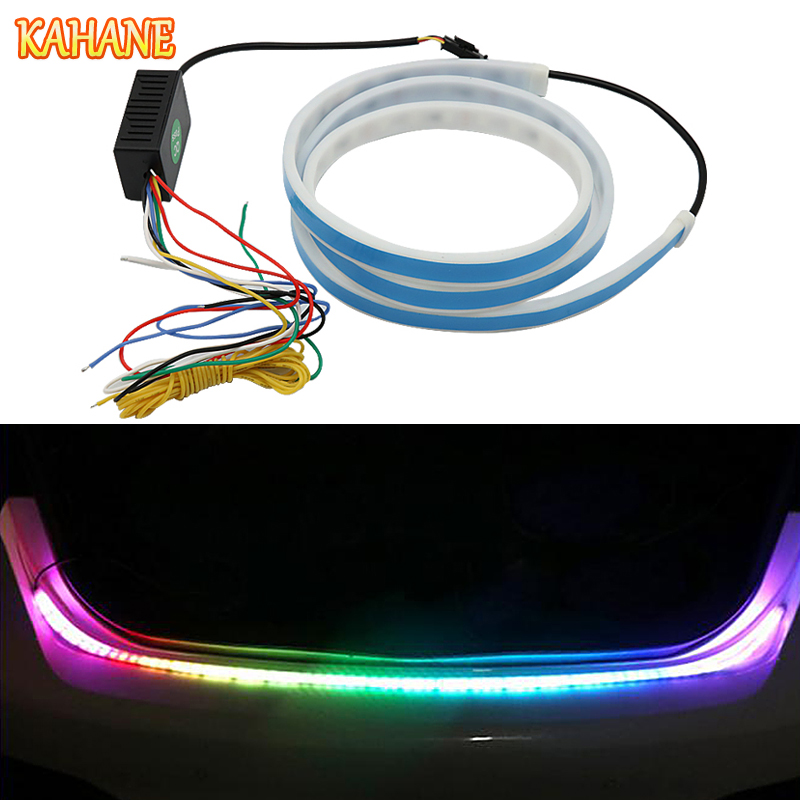 KAHANE Flowing DRL Car Tailgate Brake <font><b>Light</b></font> LED Turn Signal <font><b>Rear</b></font> <font><b>Light</b></font> Strip Day Running <font><b>Light</b></font> FOR <font><b>Volvo</b></font> XC60 S60 V70 XC90 <font><b>S80</b></font> image