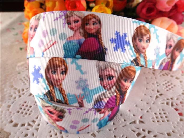 Новое поступление, 1 «(25 мм), лента принцессы с рисунком, лента из мультфильма, 10 ярдов, WQ040406