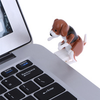 Portable Mini Cute USB 2.0 Funny Humping Spot Dog Rascal Dog Toy Relieve Pressure for Office Worker Best gift For Festival 2