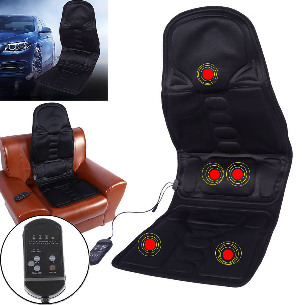 Health Care Beauty & Health Chair Massage Electric Car Seat Vibrator Back Neck Massagem Cushion Heat Pad For Legs Waist Body Massageador Electric Massager Cheapest Price From Our Site