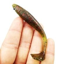 3pcs/lot Claw Tail Soft baits 84mm/5g Luminous soft Abdomen open Paddle Tail fishing lure Soft Lure Bass Fishing tackle YE-338
