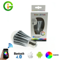 Bluetooth LED Bulb 7.5W E27 RGBW Bluetooth 4.0 Smart LED Light Color Change Dimmable by IOS / Android APP.