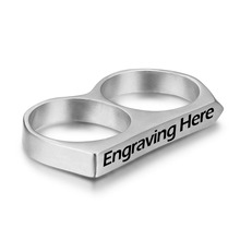 Personalized Two-finger Double Men's Party Ring