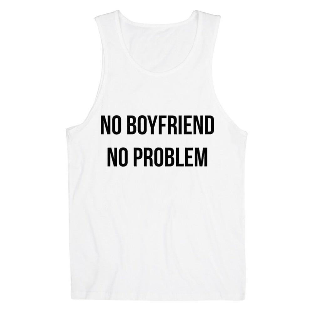 NO BOYFRIEND NO PROBLEM Women Tank Top Summer Vest t shirt to Lady - Կանացի հագուստ - Լուսանկար 2