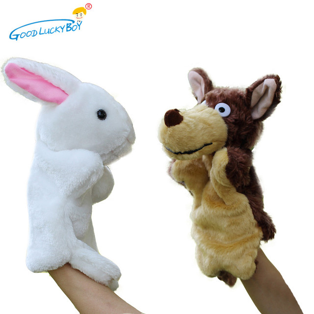 27 cm bebé relleno Muñecas mano Juguetes conejo blanco y grande Lobo ...