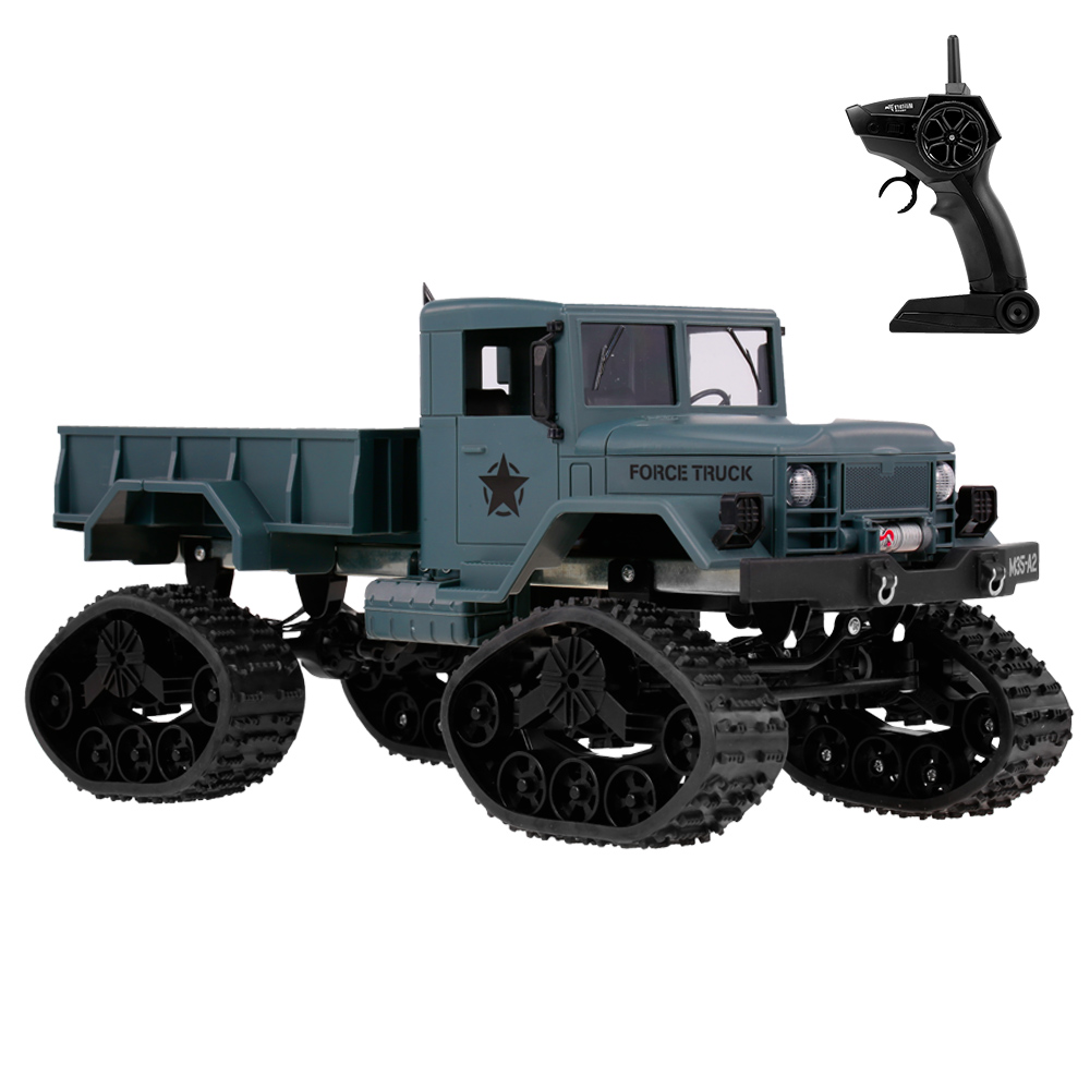 FY001B RC Car 1/16 2.4GHz 4WD Militaire Car 3000G Load Snow Tire Off road Crawler SUV with LED Lights for Boys Children Gifts