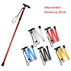 4-section Folding Ultralight Adjustable Walking Sticks Telescopic Trekking Hiking Poles Walking Canes with Rubber Tips Protector