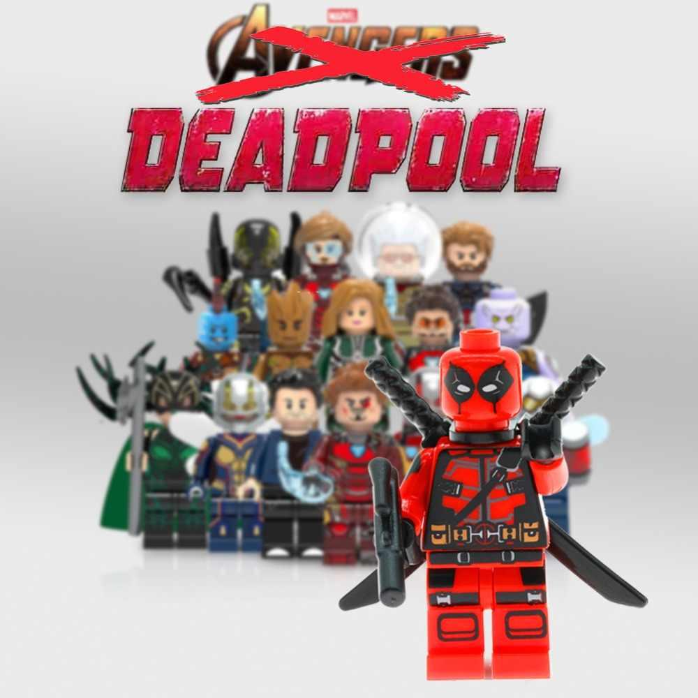 Marvel avengers cijfers Iron man Ghost Rider Thanos spiderman batman playmobill movie bouwstenen speelgoed voor kinderen