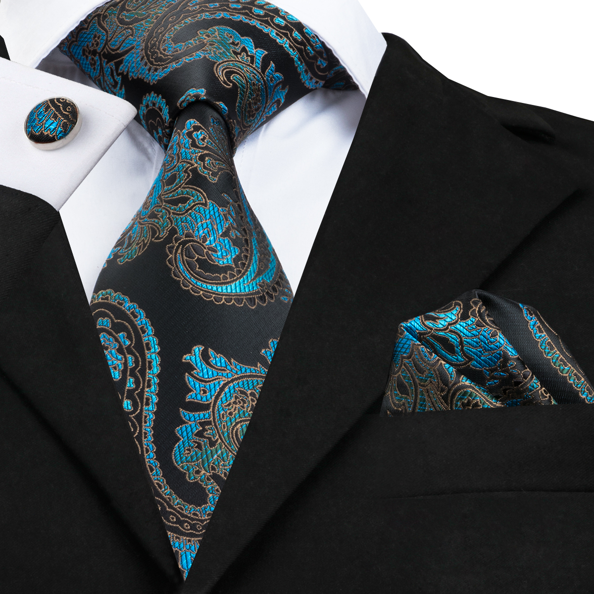 Luxury Floral Paisley Mens Blue Red Tie Gravata Pour Homme Male Silk Ties For Men Business Wedding Necktie 8.5cm Wide SN-1692