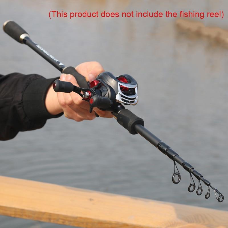 1.8// 2.4// 2.7M Portable Carbon Fiber Ultralight Travel Telescopic Fishing Rods